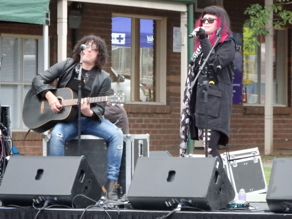 Guitar player and Singer on the Festival Main Stage