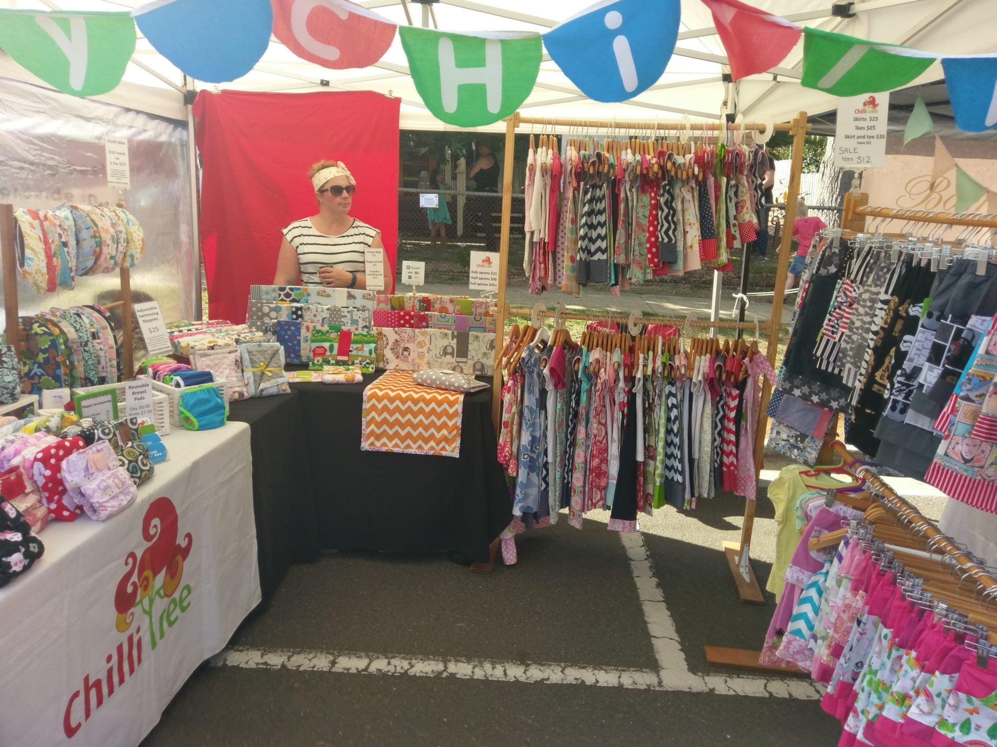 Market stall at the festival