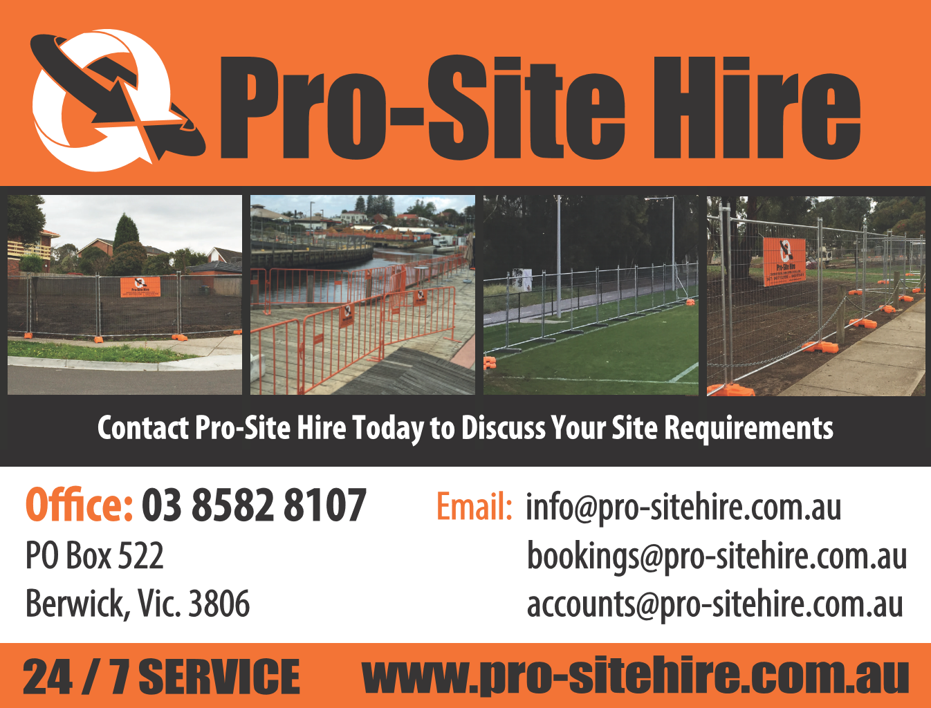 logo for sponsor Pro-Site Hire
