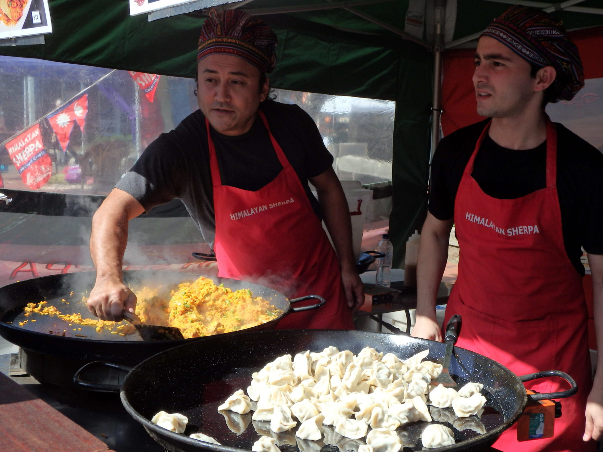 Nepalese Dumplings being cooked in the Food Court