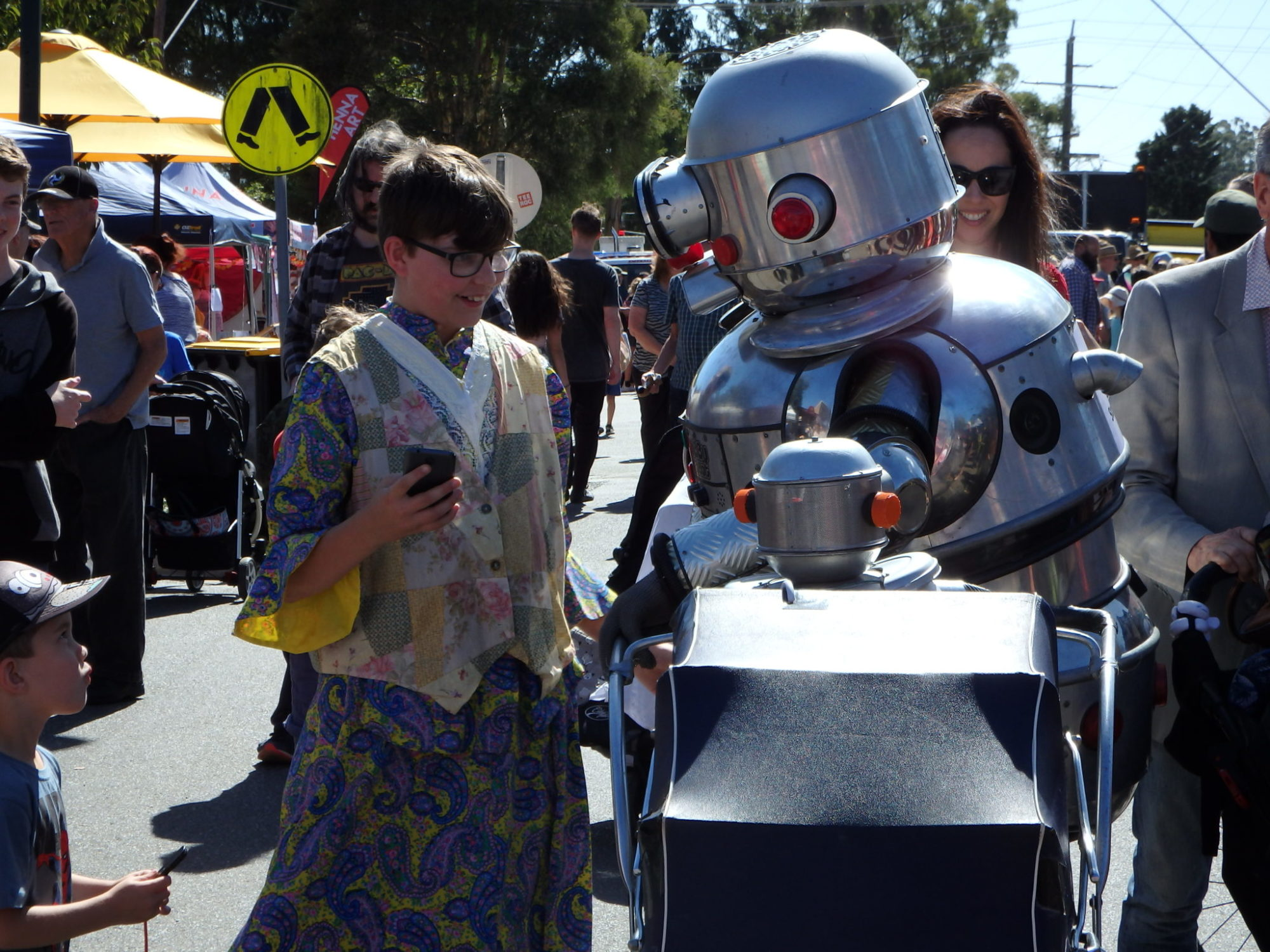 Tubby the robot with Baby Robot